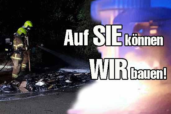 Brandstiftung? – Nachteinsatz wegen brennender Container