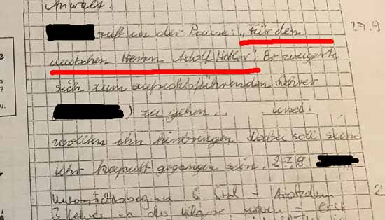 Nazi - Vorwürfe in der Grundschule waren bislang undenkbar (Foto mwBild)