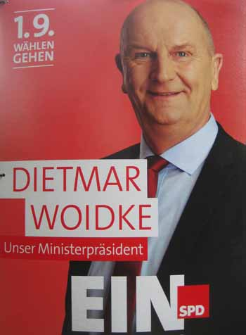 Wahlplakat Ministerpräsident Woidke