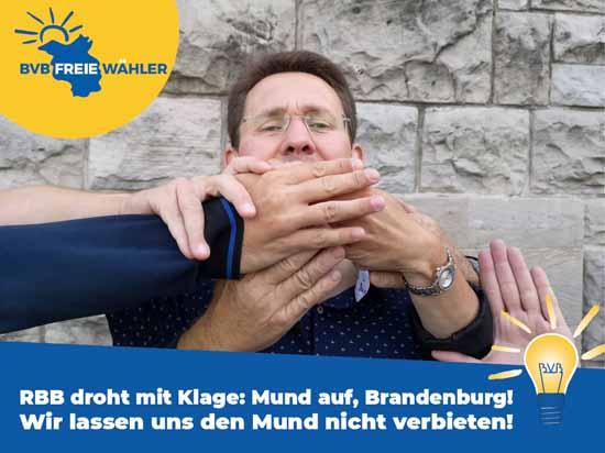 Rote Karte für den rbb – BVB/Freie Wähler ruft zur Demo auf.