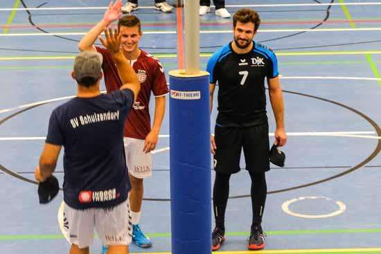 Spieler des Tages beim SVS: Nils Kraege (li.)