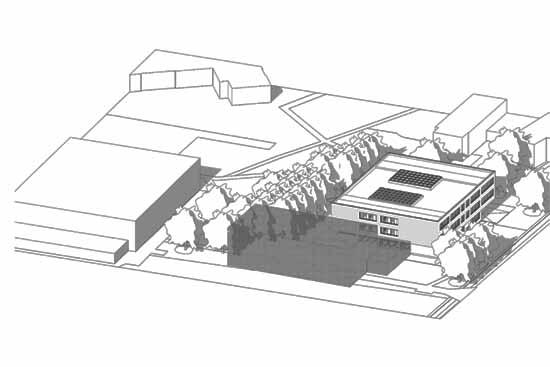 Schulanbau, Variante 1 (PowerPoint-Präsentation Gemeinde Schulzendorf)