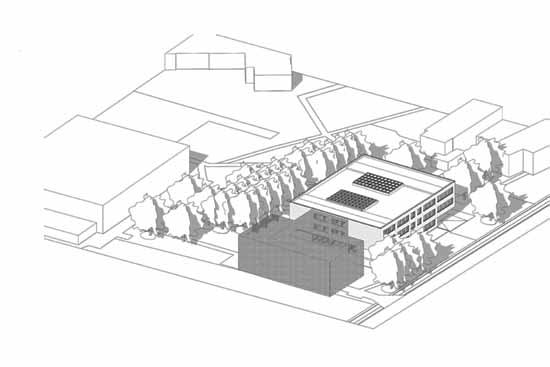 Schulanbau, Variante 2 (PowerPoint-Präsentation Gemeinde Schulzendorf)