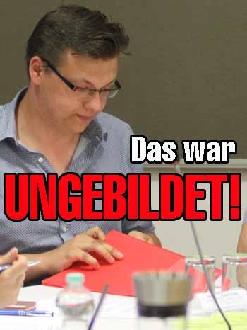 Affront: SPD – Chef poltert gegen Dr. Burmeister