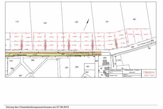 """Wohngebiet """"Rosengarten"""": So sehen die Pläne der Kirchengemeinde aus. (Screenshot Gemeinde Schulzendorf, Präsentation Ortsentwicklungsausschuss)"""