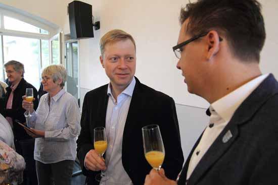 Denis Gottwald (FDP, re.) und Dominic Lübke (SPD) im Talk. (Foto: mwBild)