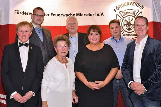 Der Vorstand des Fördervereis (v.l): Karl Uwe Fuchs, Detlef Mock, Dr. Inge Seidel, Peter Rabes, Ilona Noack, Swen Süß, Christopher Koßagk (Foto: Oliver Hein)