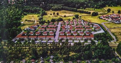 Ein Luftbild der geplanten Wohnanlage (Präsentation KoKo Immobilien Handels- und Verwaltungs- GmbH)