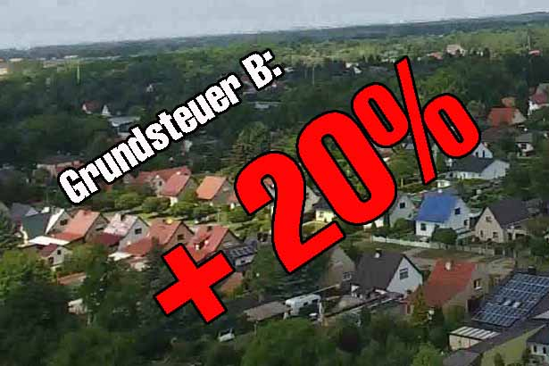 Grundsteuer: Schulzendorf blüht der STEUER – HAMMER