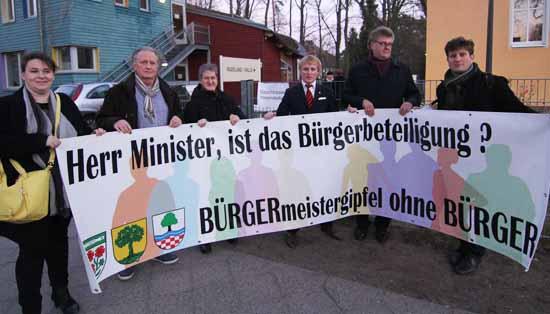 Protest von Volksvertretern 2016 in Eichwalde (Foto: mwBild)