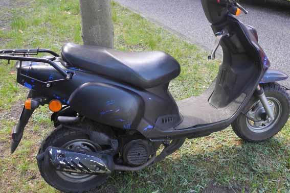 Polizei bittet um Mithilfe: Wem gehört dieser Motorroller?