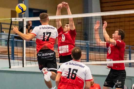 Der SVS schlug sich in der dritthöchsten Volleyball Liga für 8.000 Einwohner der Gemeinde brilliant. (Foto: SVS)