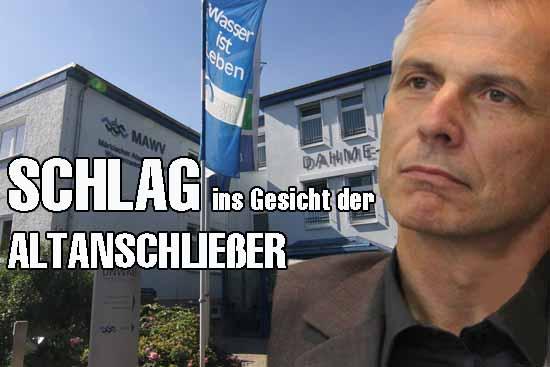 Bürgermeister Mücke (SPD-nominiert) stemmt sich gegen Altanschließer
