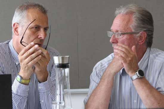 Bürgermeister Mücke und Gemeinderatschef Kolberg bestimmen in aller Regel die Tagesordnung. (Foto: mwBild)