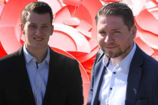 In Bedrängnis: Tobias Schröter (li.) und Ludwig Scheetz (Foto: mwBild)