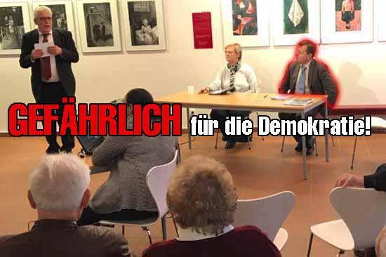 v.l.: Jens Wollénberg, Winnifred Tauche und Wahlfälscher Maurer.