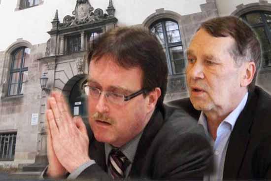 Ex-Justizminister Ludwig und Lutz Franzke sind moralisch mitschuldig am Schaden der Stadt. (Foto: mwBild)
