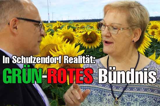 Der Grüne Bundestagsstratege Andreas Körner mit der zwielichtigen Linken Fraktionschefin Tauche (Foto: mwBild)