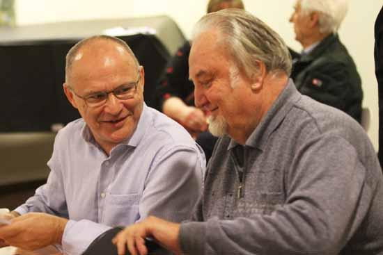 Grünen-Chef Andreas Körner (li.) im Talk mit Klaus Schmidt. (Foto: mwBild)
