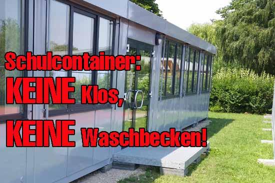 Lieber Herr Mücke (SPD-nominiert), lieber Herr Kolberg (CDU), warum gönnen Sie unseren Kinder keine Sanitäranlagen in unmittelbarer Nähe der Klassenräume?