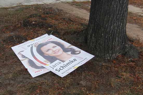 Wahlplakate abreißen – Lasst die Finger davon!