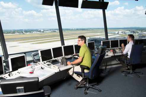 Im BER-Tower (Foto: DFS Deutsche Flugsicherung GmbH)