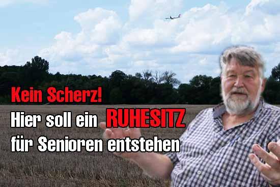 Reinhard Bolduan, Sprecher der IGAS, kritisiert die Projektpläne nach der Ein-und Abflugschneise scharf. (Foto: mwBild)