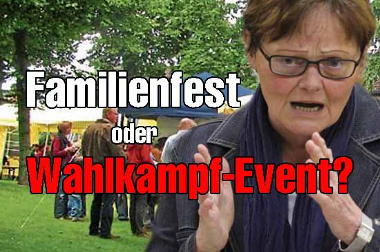 Wahlkampfzeit:  Sylvia Lehman (SPD) besucht Familienfest