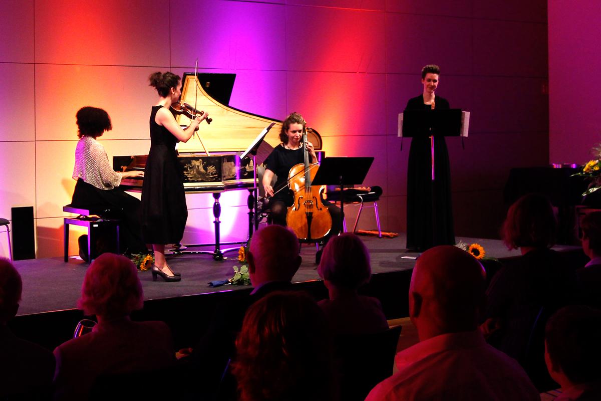 Ein außergewöhnliches Barockprogramm bot Marsyas Baroque bei den Schlosskonzerten. (Foto: Susann Niedworok)