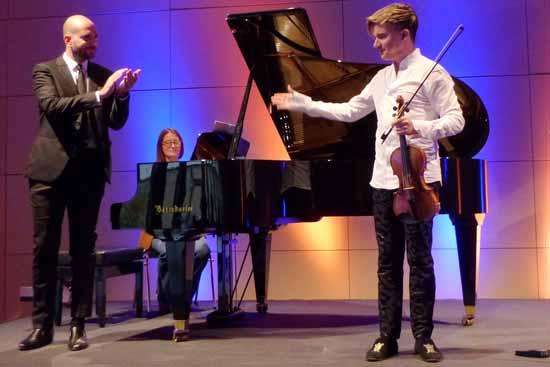 Zwei Ausnahmekünstler: Yury Revich (re.), Violine, und Fiorenzo Pascalucci, Klavier, Foto: Schlosskonzerte