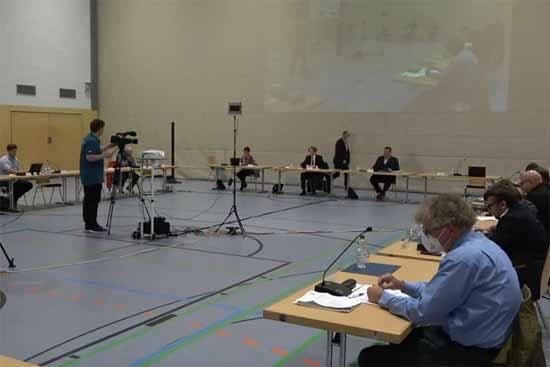 Live-Übertragung der Gemeinderatssitzung i n Zeuthen. (Foto: Screenshot Gemeinde Zeuthen)